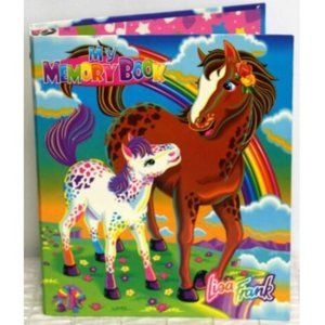 Vtg Lisa Frank My Memory Book Binder 3-Ring Horse